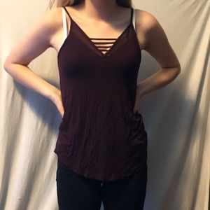 Dark red Tank top